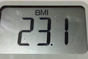 体幹リセットダイエット88日目のBMI