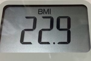 体幹リセットダイエット89日目のBMI