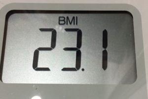 体幹リセットダイエット90日目のBMI