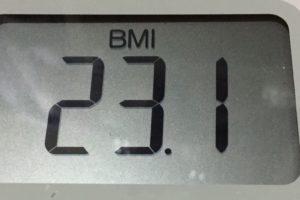 体幹リセットダイエット91日目のBMI