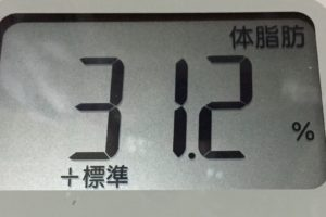 体幹リセットダイエット91日目の体脂肪