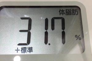 1ヶ月間健康ダイエット2日目の体脂肪