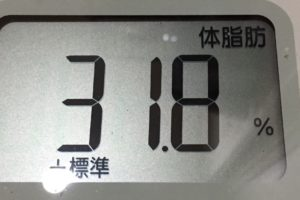 1ヶ月間健康ダイエット4日目の体脂肪