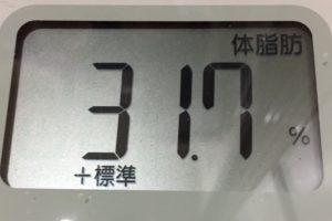 1ヶ月間健康ダイエット5日目の体脂肪