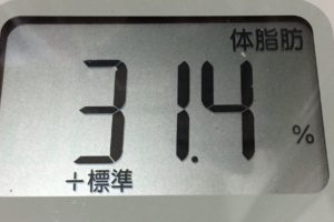 1ヶ月間健康ダイエット10日目の体脂肪