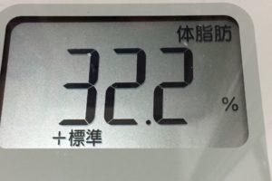 1ヶ月間健康ダイエット11日目の体脂肪
