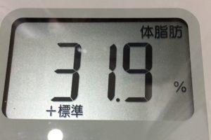 1ヶ月間健康ダイエット12日目の体脂肪