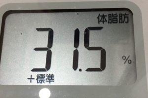 1ヶ月間健康ダイエット16日目の体脂肪