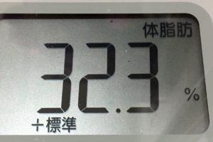 1ヶ月間健康ダイエット17日目の体脂肪