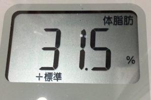 1ヶ月健康ダイエット24日目の体脂肪