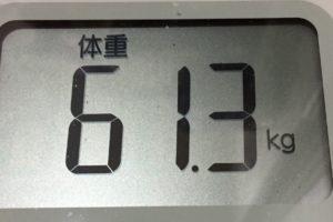 1ヶ月健康ダイエット25日目の体重