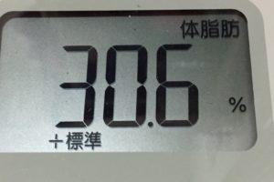 1ヶ月健康ダイエット26日目の体脂肪