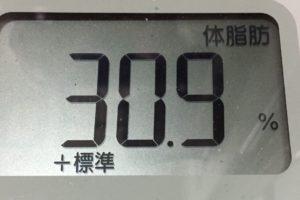 1ヶ月健康ダイエット29日目の体脂肪