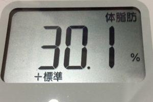 1ヶ月健康ダイエット30日目の体脂肪