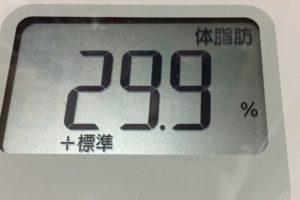痩せるまでダイエット37日目の体脂肪