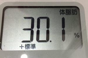 痩せるまでダイエット43日目の体脂肪