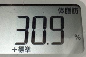 痩せるまでダイエット47日目の体脂肪
