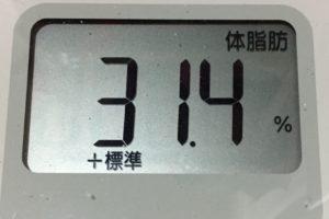 痩せるまでダイエット49日目の体脂肪