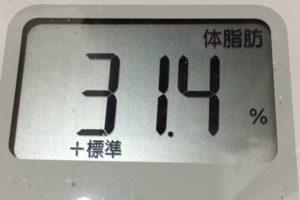 痩せるまでダイエット51日目の体脂肪