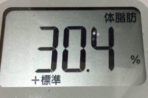 痩せるまでダイエット54日目の体脂肪