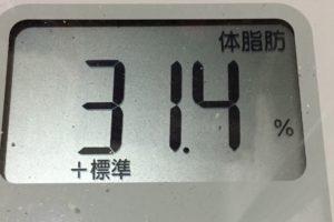 痩せるまでダイエット57日目の体脂肪