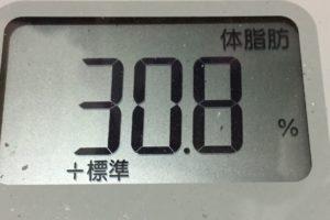 痩せるまでダイエット59日目の体脂肪