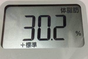 痩せるまでダイエット63日目の体脂肪