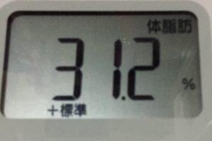 痩せるまでダイエット64日目の体脂肪