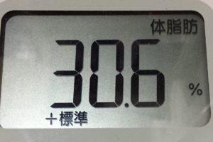 痩せるまでダイエット66日目の体脂肪