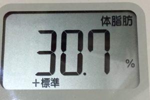 痩せるまでダイエット67日目の体脂肪