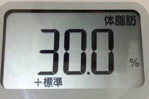 痩せるまでダイエット70日目の体脂肪