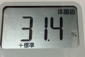 痩せるまでダイエット74日目の体脂肪