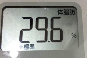 痩せるまでダイエット80日目の体脂肪