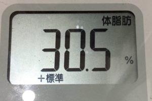 痩せるまでダイエット81日目の体脂肪