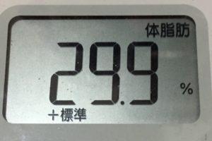 痩せるまでダイエット85日目の体脂肪