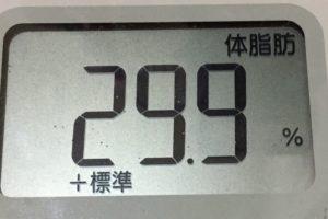 痩せるまでダイエット86日目の体脂肪