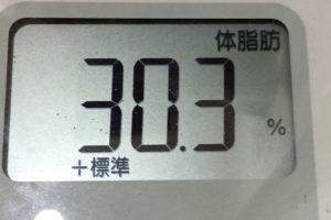 痩せるまでダイエット87日目の体脂肪