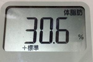 痩せるまでダイエット88日目の体脂肪
