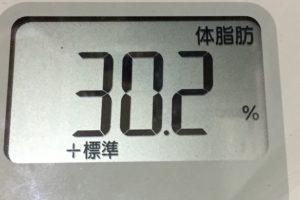 痩せるまでダイエット90日目の体脂肪