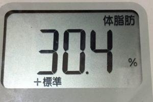 痩せるまでダイエット91日目の体脂肪