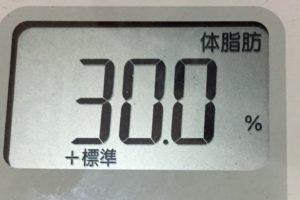 痩せるまでダイエット93日目の体脂肪