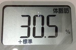 痩せるまでダイエット94日目の体脂肪