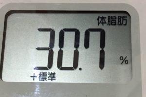 痩せるまでダイエット95日目の体脂肪