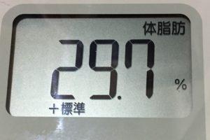 痩せるまでダイエット96日目の体脂肪