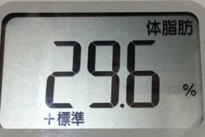 痩せるまでダイエット97日目の体脂肪