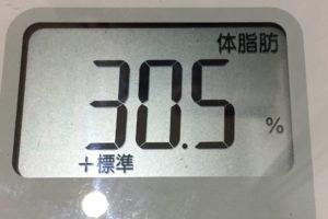 痩せるまでダイエット99日目の体脂肪
