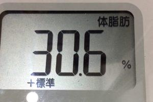 痩せるまでダイエット100日目の体脂肪