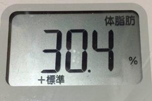 痩せるまでダイエット102日目の体脂肪