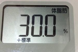 痩せるまでダイエット103日目の体脂肪