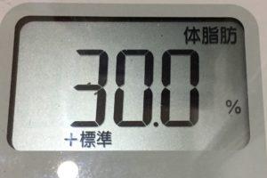 痩せるまでダイエット105日目の体脂肪